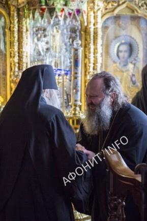 Митрополит Павел и Игумен Иеремия Алехин в Русском на Афоне Пантелеимоновом монастыре