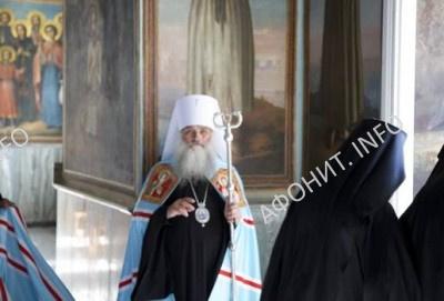 митрополит Барнаульский и Алтайский Сергий (Иванников) в Русском на Афоне Свято-Пантелеимоновом монастыре
