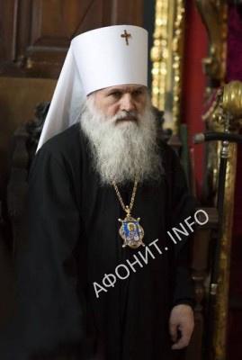 Митрополит Викентий Ташкентский на Благовещение в Пантелеимоновом монастыре на Афоне