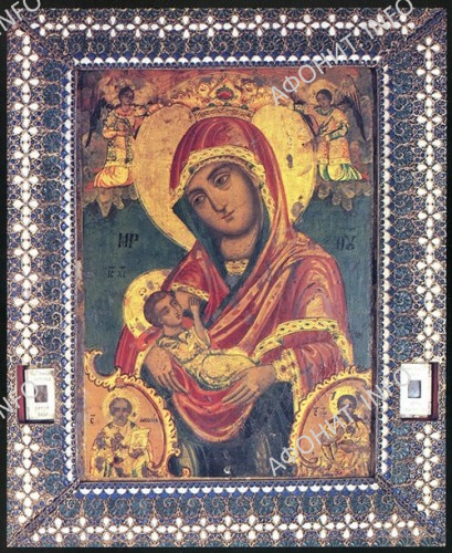 """Икона Божией Матери """"Млекопитательница"""", переданная преподобным Гавриилом в дар одесскому Ильинскому храму"""