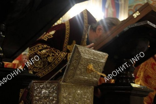 В Молдову с Афона принесены мощи св. Апостола Андрея Первозванного