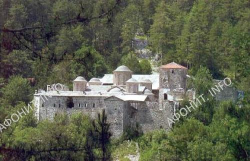 Монастырь преподобного Дионисия. Гора Олимп.