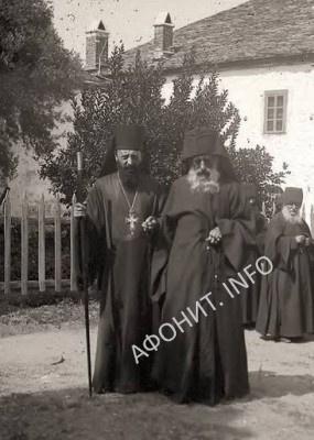 Монахи грузинской келлии Иоанна Богослова на Афоне. Нач. ХХ века