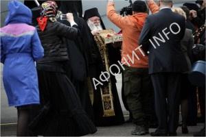 Пребывание в России привезенных с Афона частицы мощей великомученика Георгия Победоносца