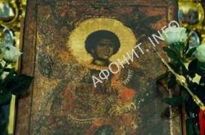 Икона влкмч. Георгия Победоносца с Афона