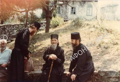 Схимонах Никодим Карульский, епископ Марк и будущий епископ Агапит (РПЦЗ), 1982 г.