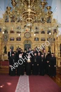 В Афонском Ильинском скиту делегация из Одессы