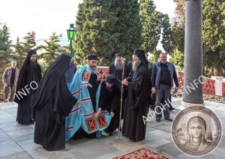 Визит Предстоятеля УПЦ митрополита Онуфрия в Афонский Пантелеимонов монастырь