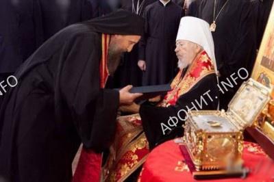 Митрополит Владимир (Сабодан) на открытии Подворья Афонского Пантелеимонова монастыря в Киеве
