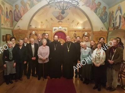 Епископ Сакраментский Ириней (Стинберг) в Никольском православном храме в Оксфорде, 7 февраля 2017 г.