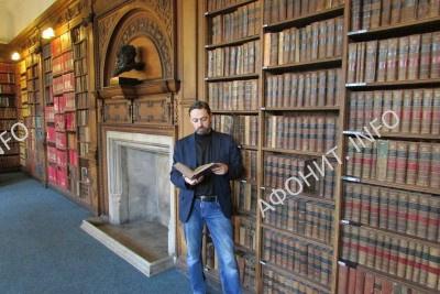 Сергей Шумило в библиотеке Oxford Union, 7 февраля 2017 г.