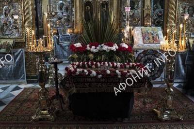 Вынос плащаниуы в Русском на Афоне Пантелеимоновом монастыре