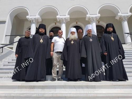 Делегация РПЦ посетила Священный Кинот Афона, 9 августа 2017 г.