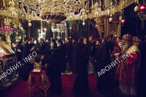 Панигир в Русском на Афоне Пантелеимоновом монастыре, 9 августа 2017 г.
