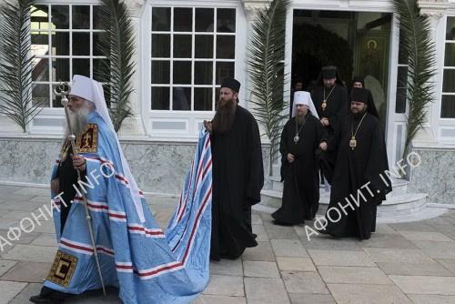 Делегация РПЦ возглавила на Афоне панигир в честь св. вликомученика и целителя Пантелеимона