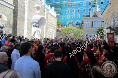 Панигир в Русском на Афоне Свято-Пантелеимоновом монастыре