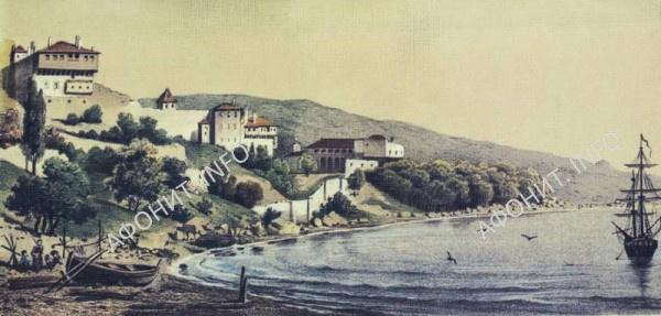Русский Пантелеимонов монастырь на Афоне - Новый Прибрежный Русик, XIX век