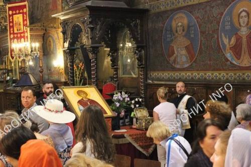 Праздничное богослужение пред главой св. влмч. Пантелеимона в Софии, 30.07.2017