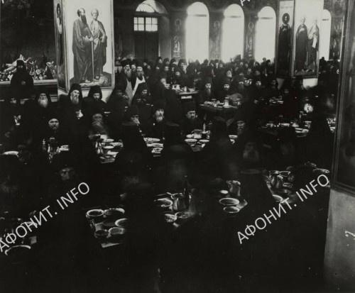 Пантелеимонов монастырь. Трапезная. 1923г.