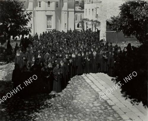 Братия Пантелеимонова монастыря. 1923г.
