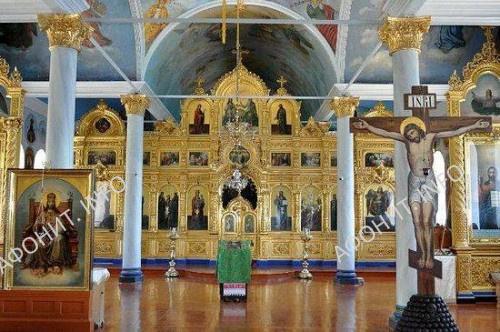Внутренний вид Преображенской церкви. Фото: архидиакон Вениамин (Величко) и иподиакон Георгий (Королёв)