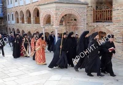 В афонском монастыре Пантократор почтили память преподобных отцов Пантократорских