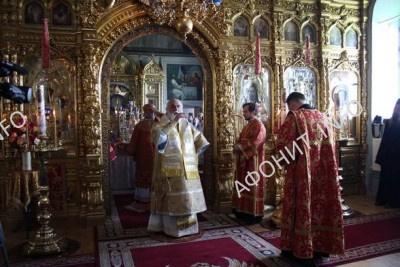 Патриарх Кирилл в Пантелеимоновом монастыре на Афоне