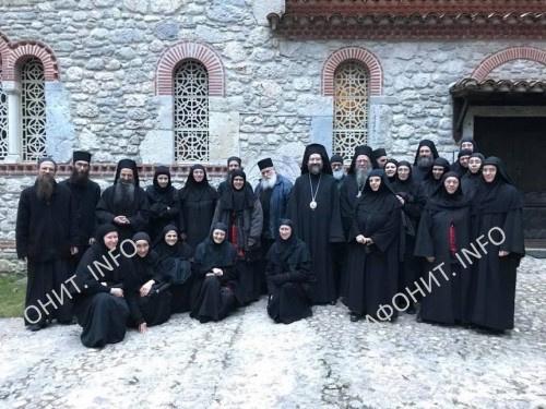 Поминальный синаксис монашествующих обители и подворий Симонопетра после погребения схиархимандрита Плакиды (Дезей)