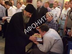Митрополит Онуфрий провел встречу с братством Афонского подворья в Киеве
