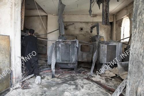 Пожар в Пантелеимоновом монастыре на Афоне 19 мая 2019 г.