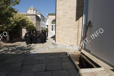 погребение Игумена Афонского Свято-Пантелеимонова монастыря схиархимандрита Иеремии (Алехина)