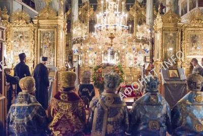 Панигир на Покров Богородицы в Афонском Пантелеимоновом монастыре