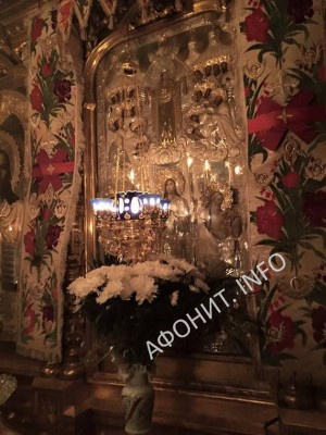 Икона Покрова в Русском на Афоне Пантелеимоновом монастыре