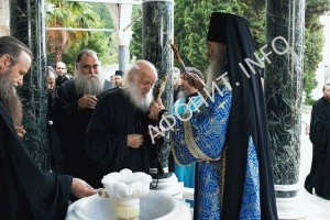 На Афоне торжественно почтили Светописанный образ Богородицы, явленный в русской святогорской обители