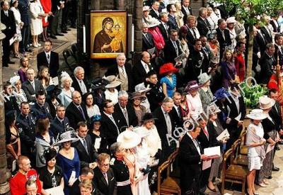 Православные иконы на свадьбе сына принца Чарльза