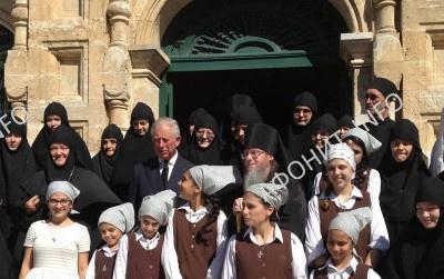 Принц Уэльский Чарльз в русском православном монастыре в Гефсимании (Иерусалим)