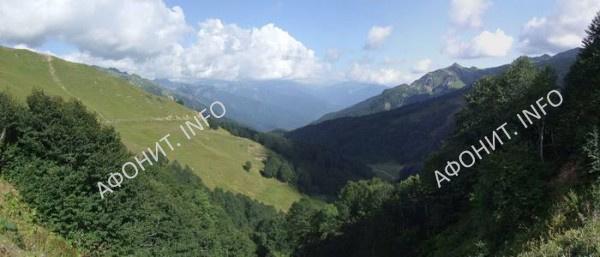 Долина Псху в Абхазии. Современный вид