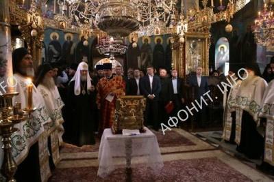 В. Путин в Пантелеимоновом монастыре на Афоне