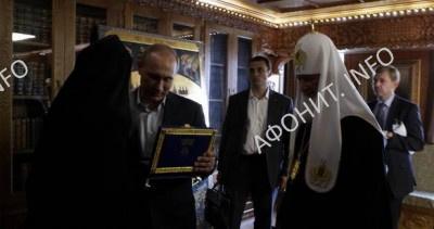 Вручение Ордена Святого Пантелеимона В. Путину