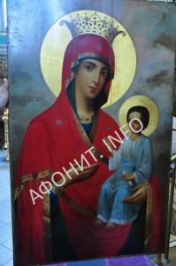 Иверская икона Божией Матери с Афона