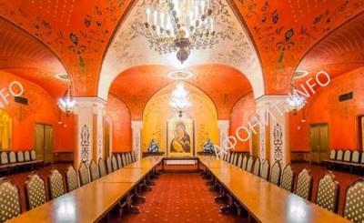 Красный зал Храма Христа Спасителя