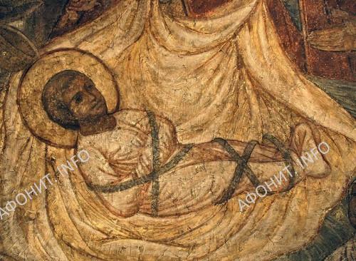 Богомладенец Христос, фреска. Московский Сретенский монастырь