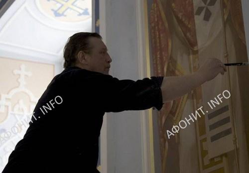 Работы над росписями в соборе Старого Русика на Афоне