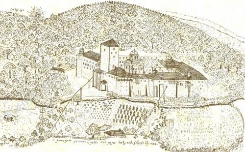 Графическое изображение Старого Русика (1744). Рисунок В. Г. Григоровича-Барского