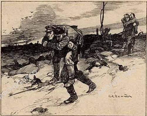 Русские санитары на полях сражений Первой мировой войны