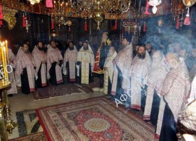 В афонском монастыре Каракал панигир в честь св. Гедеона Каракальского