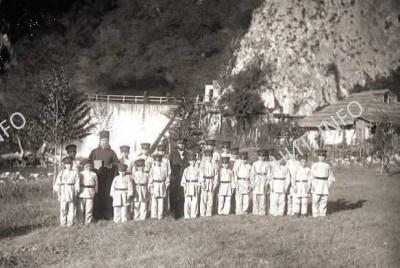 Мужская школа при Новоафонском Симоно-Кананитском монастыре. 1885 г.