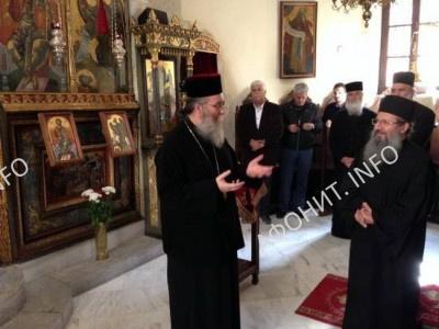 Игумен монастыря Симонопетра посетила Митрополию Кисама и Критскую академию