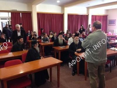 Игумен монастыря Симонопетра посетил Митрополию Кисама и Критскую академию