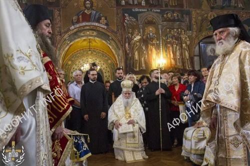 Торжественная встреча главы св. влмч. Пантелеимона в столице Болгарии